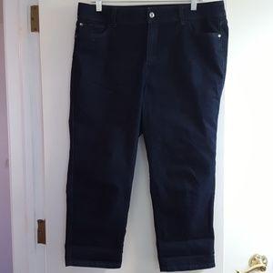 Dana Buchman super dark blue rinse jeans like new